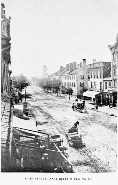 Main street, Ante-Bellum Lexington.