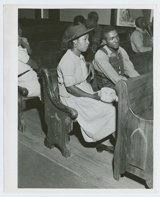 At a meeting of Negro FSA borrowers in a church near Woodville, Greene County, Georgia, May 1941.