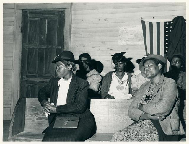 During the church service at a Negro church in Heard County, Georgia, April 1941.