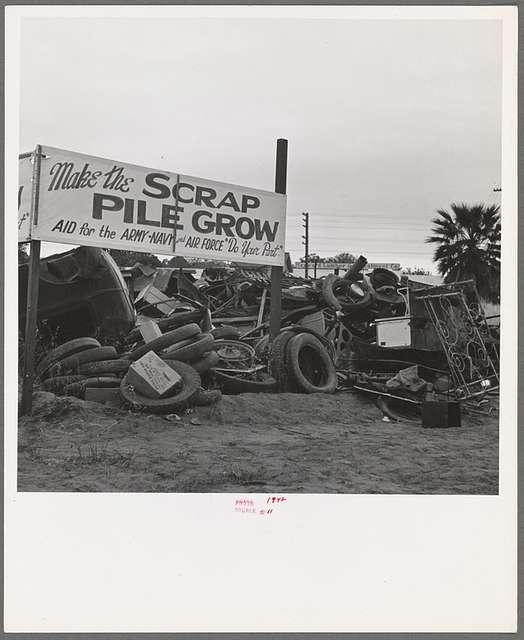 Scrap pile. Tulare, California
