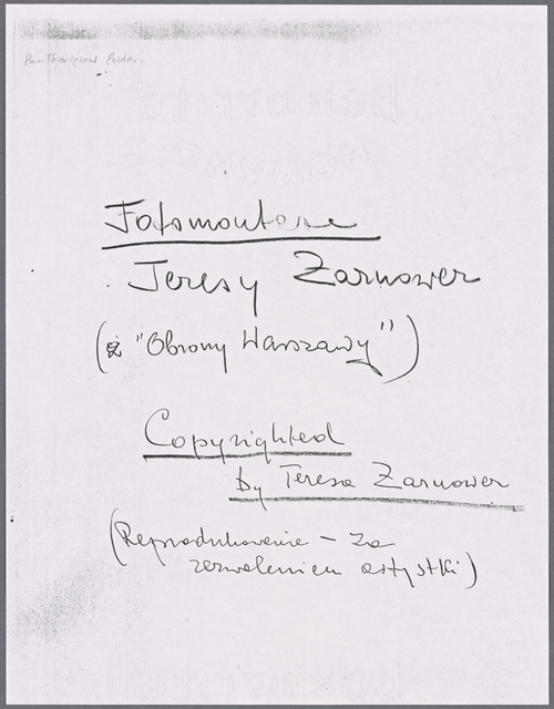 Photocopy of title page
