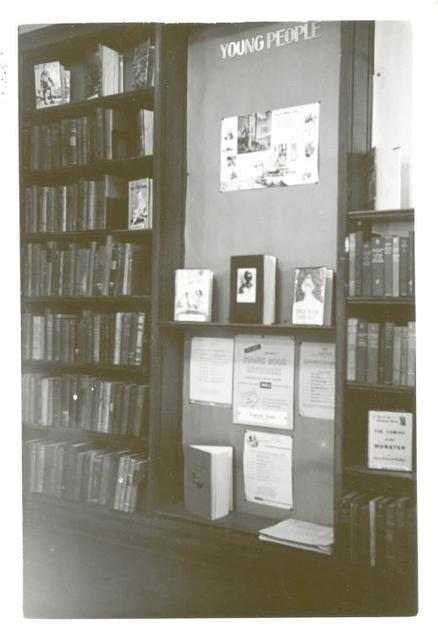Highbridge, Young People's Corner, Mrs. Ruth Benson, Young People's Librarian, High Bridge Branch, New York Public Library, 78 West 168th Street, Bronx, NY