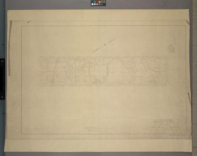 M-T-10-100: Index Map of Central Park, Boro. of Manhattan.