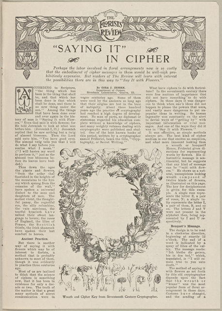 """Saying it"" in Cipher"