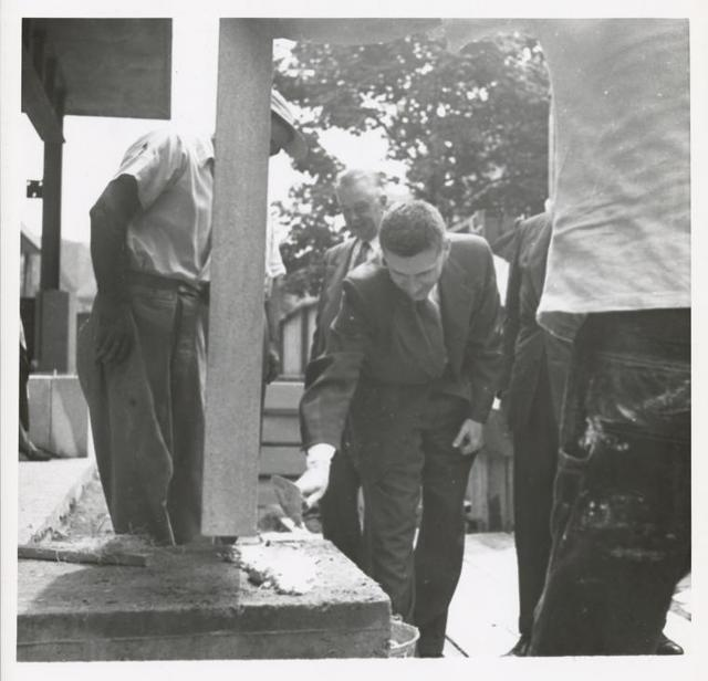 Mosholu cornerstone laying, Mr. E.G. Freehafer, Acting Director, New York Public Library