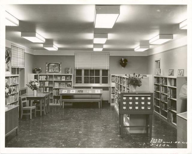 [Great Kills, Reading area and card catalog.]