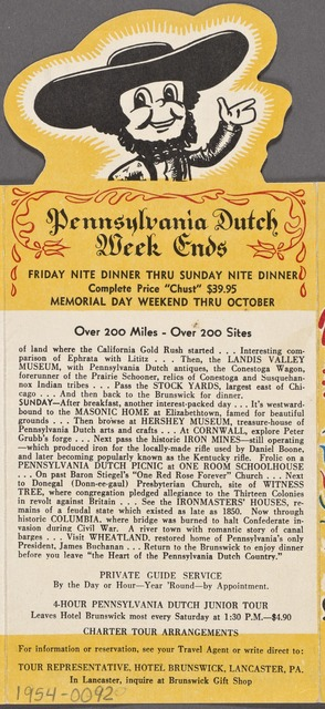 Yonnie's Pennsylvania Dutch Week Ends and Favorite Foods