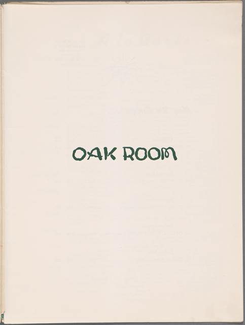 Oak Room