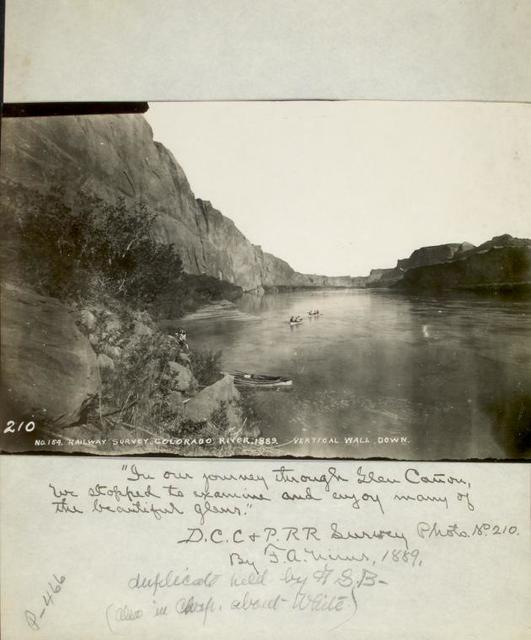 """In our journey through Glen Canyon, we stopped to examine and enjoy many of the beautiful glens."" Photo by F.A. Nims, 1899."