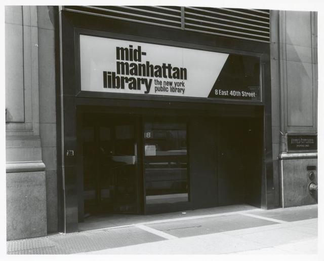 [Mid-Manhattan, Exterior, entrance.]
