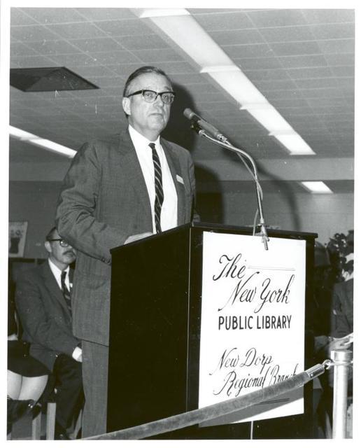 New Dorp, Dedication. Alfred C. Maevis, Commissioner, Department of Public Works