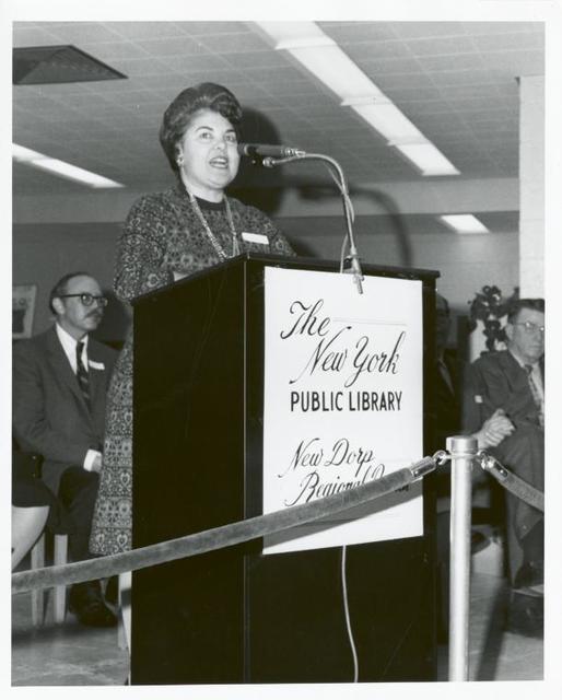 New Dorp, Dedication. Eleanor Ayoub, Branch Librarian, New Dorp Regional Branch