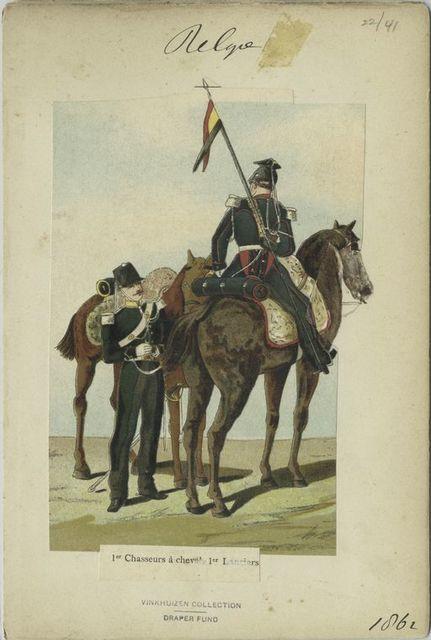 1-er Chasseur à cheval, 1-er Lanciers. 1862