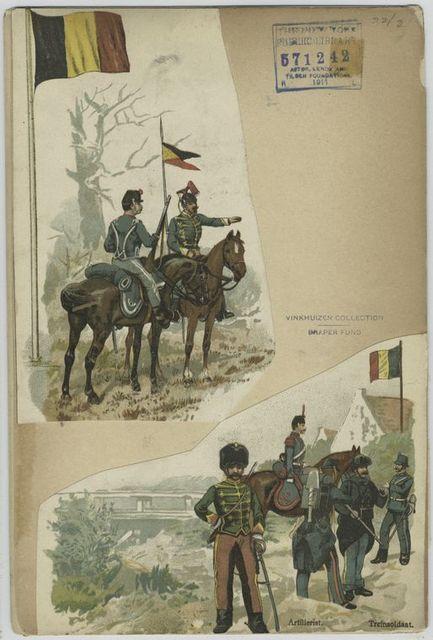 [1. Hussar and lancer Guide]; [2] Artillerist, Treinsoldaat.