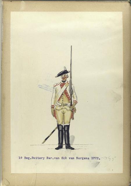 1-o Reg. Ruitery Baron van Eck van Nergena. 1772-1795