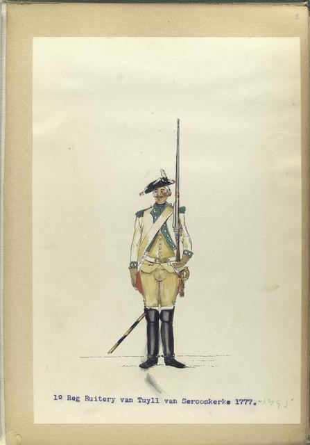 1-o Reg. Ruitery van Tuyll van Serooskerke.  1777-1795