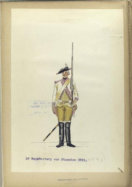 2-o Reg. Ruitery von Stoecken. 1781-1795