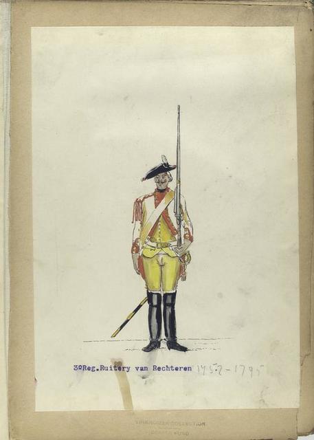 3-o Reg. Ruitery van Rechteren. 1752-1795