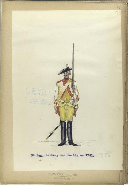 3-o Reg. Ruitery van Rechteren. 1781-1795