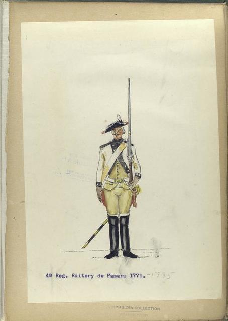 4-o Reg. Ruitery de Famars.  1771-1795