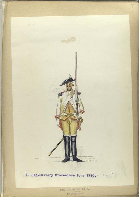 5-o Reg. Ruitery Stavenisse Pons.  1770-1795