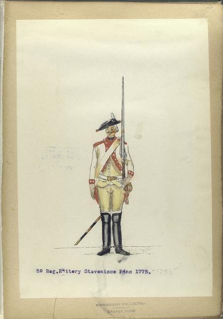 5-o Reg. Ruitery Stavenisse Pons.  1775-1795