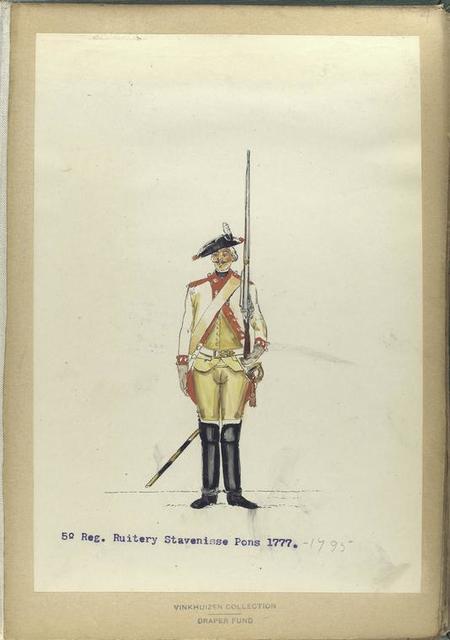 5-o Reg. Ruitery Stavenisse Pons.  1777-1795