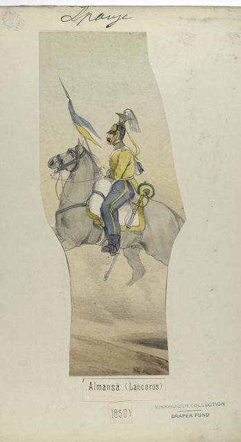 Almansa. (Lanceros). 1850