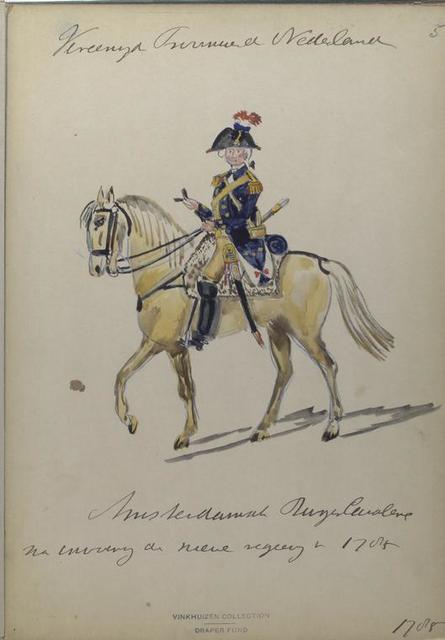 Amsterdamsch Burger Cavalerie na invoering der nieuwe [.] van 1785.