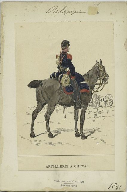 Artillerie a cheval. [1888]