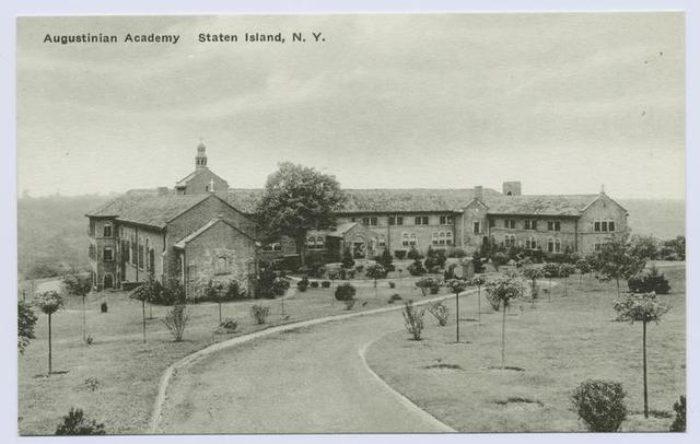 Augustinian Academy, Staten Island, New York, [drive leading to entrance]