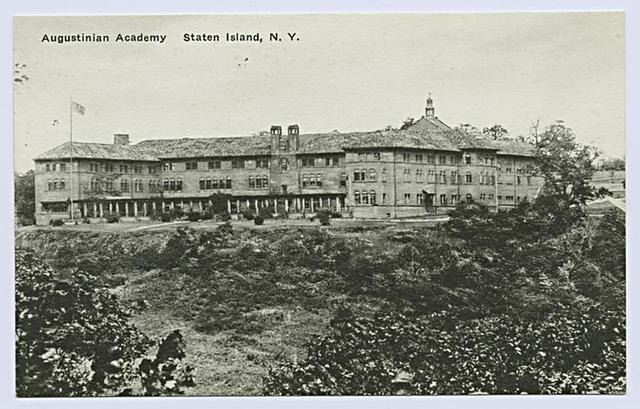 Augustinian Academy, Staten Island, New York  [entire building from distance]
