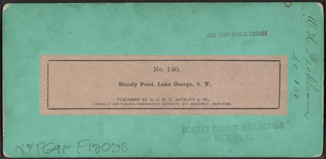 Bloody Pond, Lake George, N.Y.