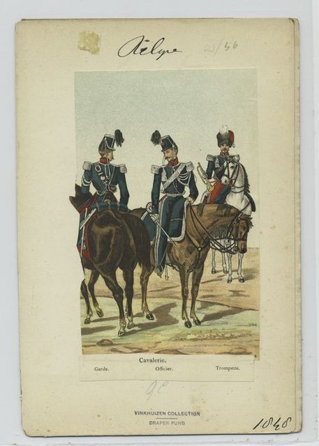 Cavalerie : Garde, officier, trompette