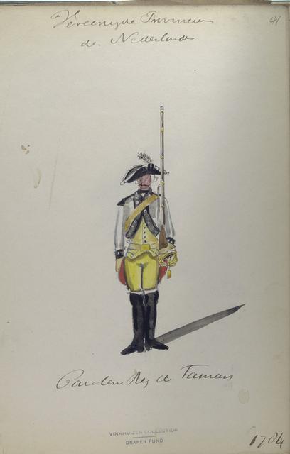 Cavalerie Reg. de Famars[?] 1784