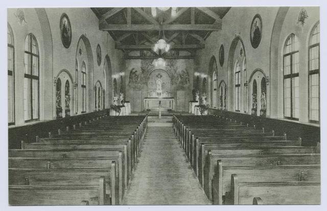 Chapel, Augustinian Academy (int. view, similar to #529)