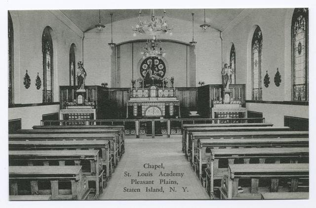 Chapel, St. Louis Academy, Pleasant Plains, Staten Island, N.Y [int. view]