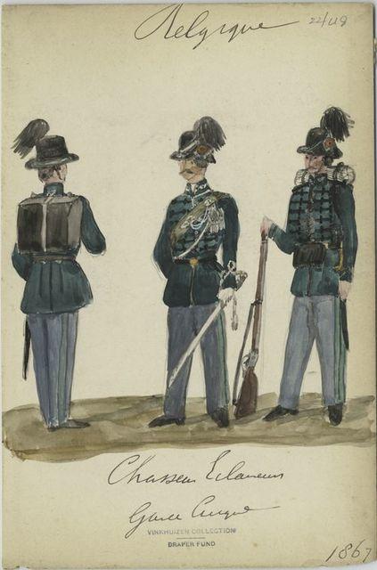 Chasseur-Eclaireurs. Garde civique. 1867