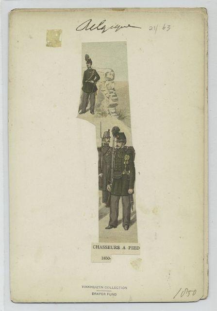 Chasseurs à pied. 1850