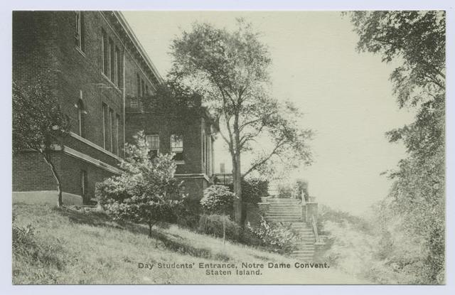 Day Student's Entrance, Notre Dame Convent, Staten Island