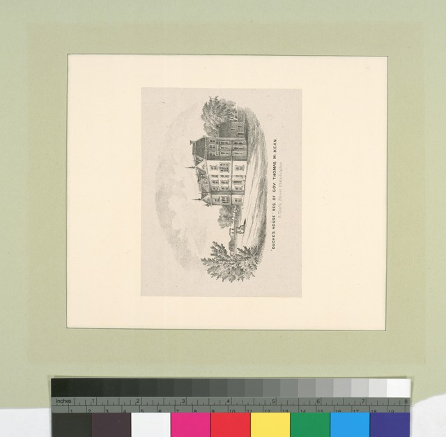 Duche's House, res. of Gov. Thomas M[c]Kean, S. Third Street, Philadelphia.