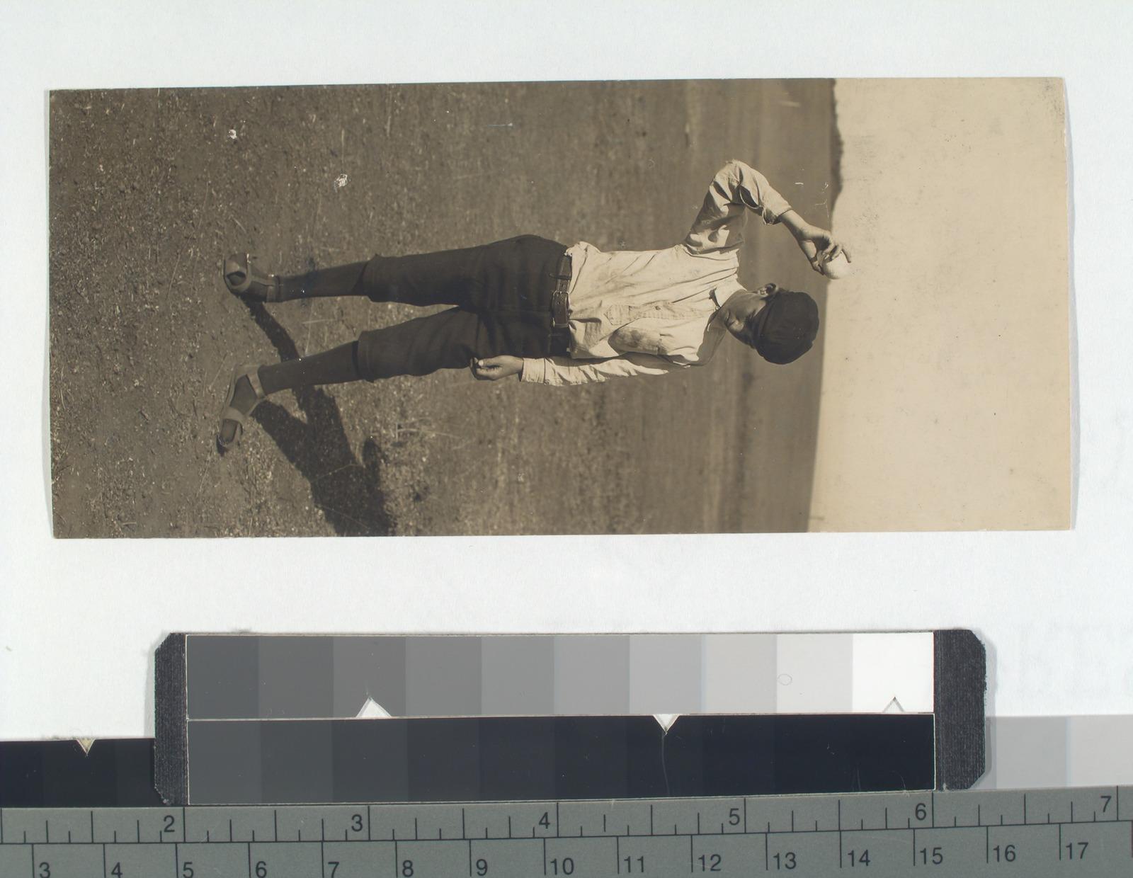 Fig. 1: Boy bounding a ball