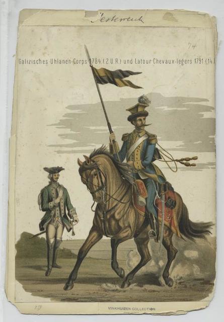 Galizisches Uhlanen-Corps 1784  (2 U.R.) und Latour Chevaux-legers 1791