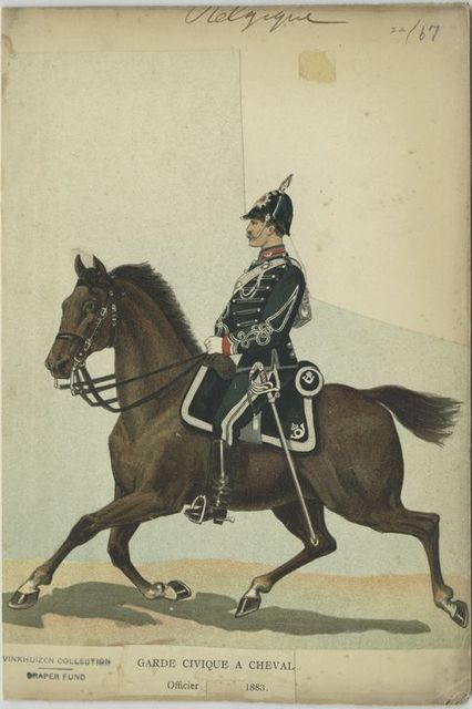 Garde civique à cheval. Officier. 1883