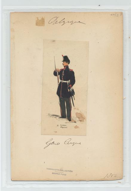 Garde civique - Caporal. 1856
