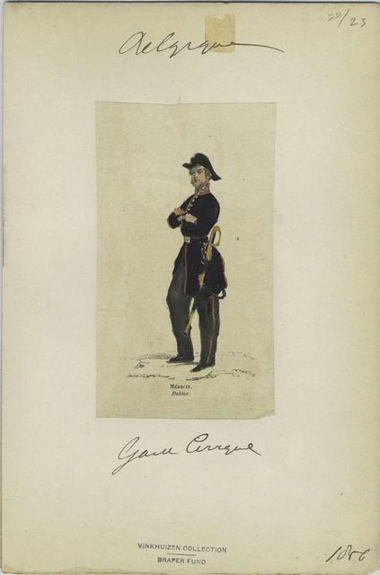Garde civique - Médecin. 1856