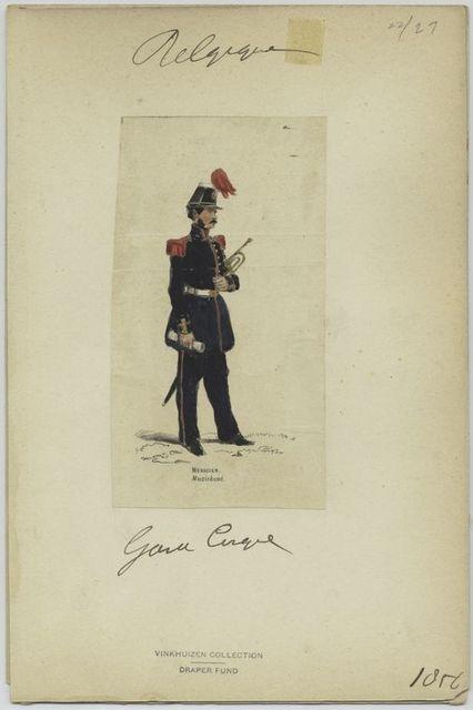 Garde civique - Musicien. 1856
