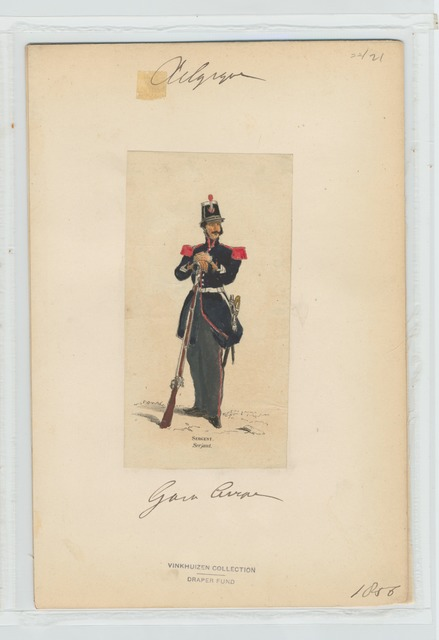 Garde civique - Sergent. 1856