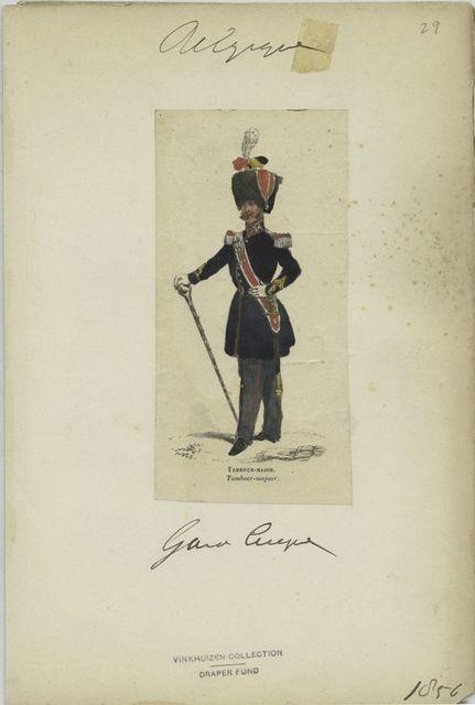 Garde civique - Tambour-major. 1856