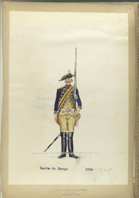 Garde du Corps. 1775-1795